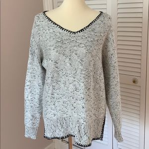 Cable & Gauge Flecked Slouchy Sweater